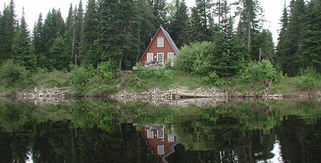 a-frame hunting cabin